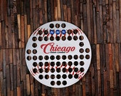 Personalized Beer Cap Map Shape of Baseball Man Cave Groomsmen Best Man Men Gift Dorm Room 21st Birthday Father 39 s Day Boyfriend Gift Chicago