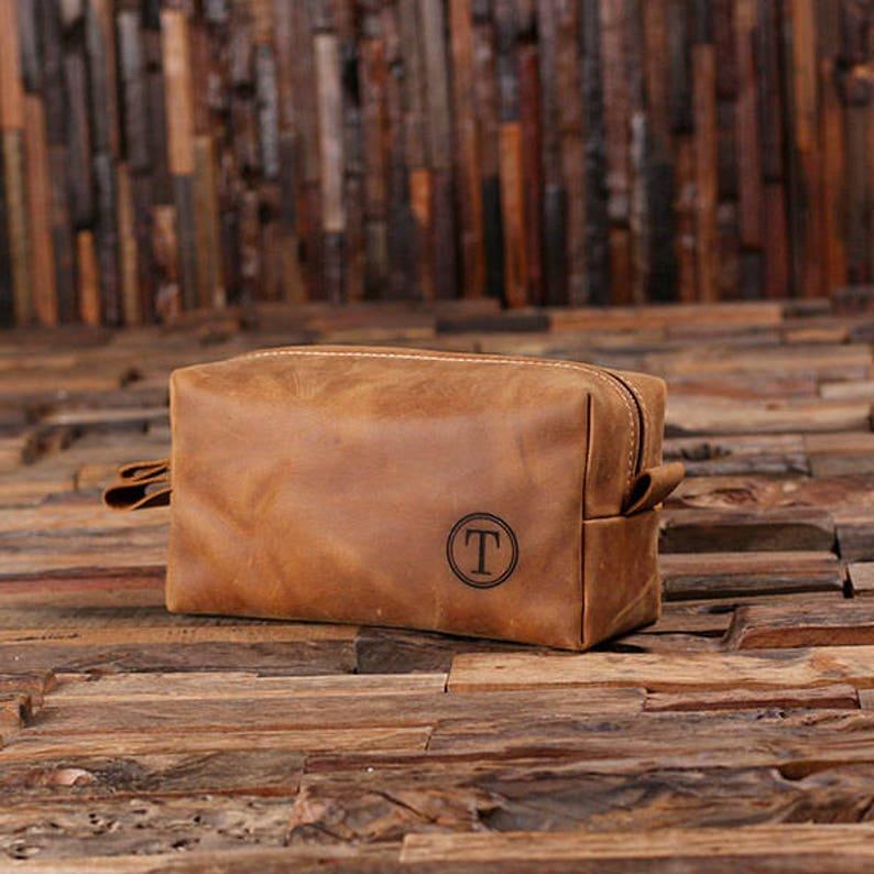 320e33e2cb No Wood Box Option Personalized Leather Toiletry Bag Dopp