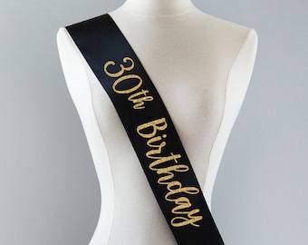 30th Birthday Sash Party Cheers To 30 Years Gift Idea For Women Custom Personalized And Fabulous