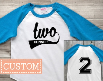 Personalized 2nd Birthday Shirt Second Custom Boy Outfit Gift Girl