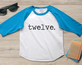 12th Birthday Shirt Boy Girl Twelfth 12 Year Old Party Gift Ideas