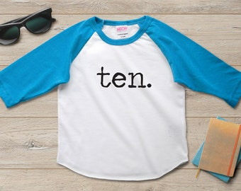 10th Birthday Shirt Boy Girl Tenth 10 Year Old Party Gift Ideas
