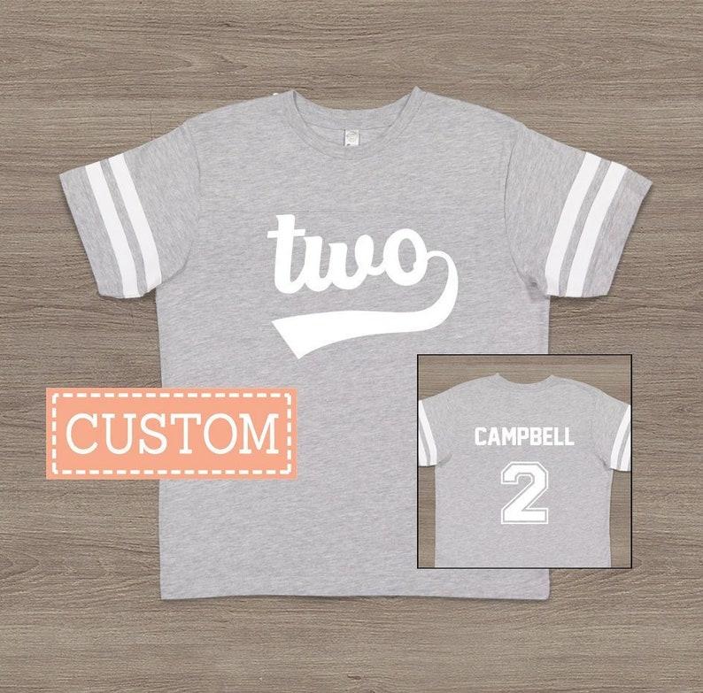298dd7186fae3 2nd Birthday Shirt Boy Girl 2nd Birthday Outfit Second Birthday Gift Sports  Birthday Party Football Jersey Shirt Personalized Birthday Shirt