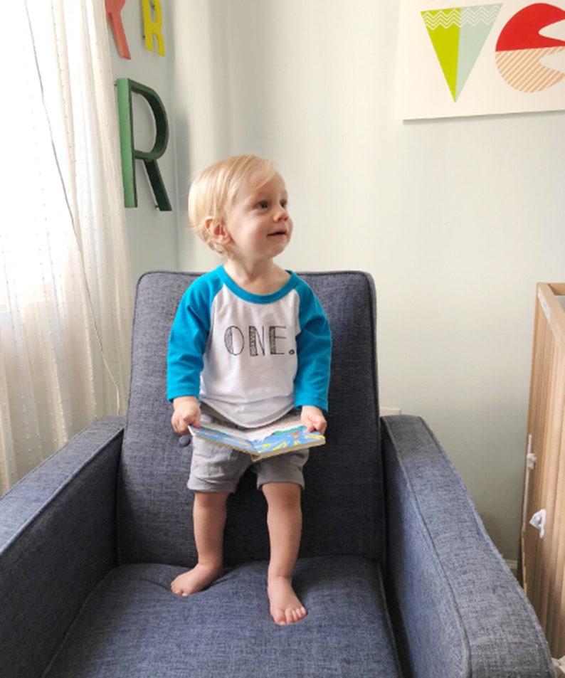 1 Year Old Boy Girl Shirt Raglan 1st Birthday Outfit
