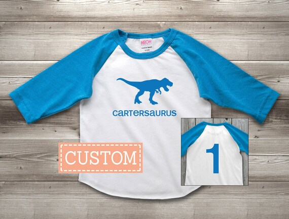 Personalized Dinosaur 1st Birthday Shirt Custom