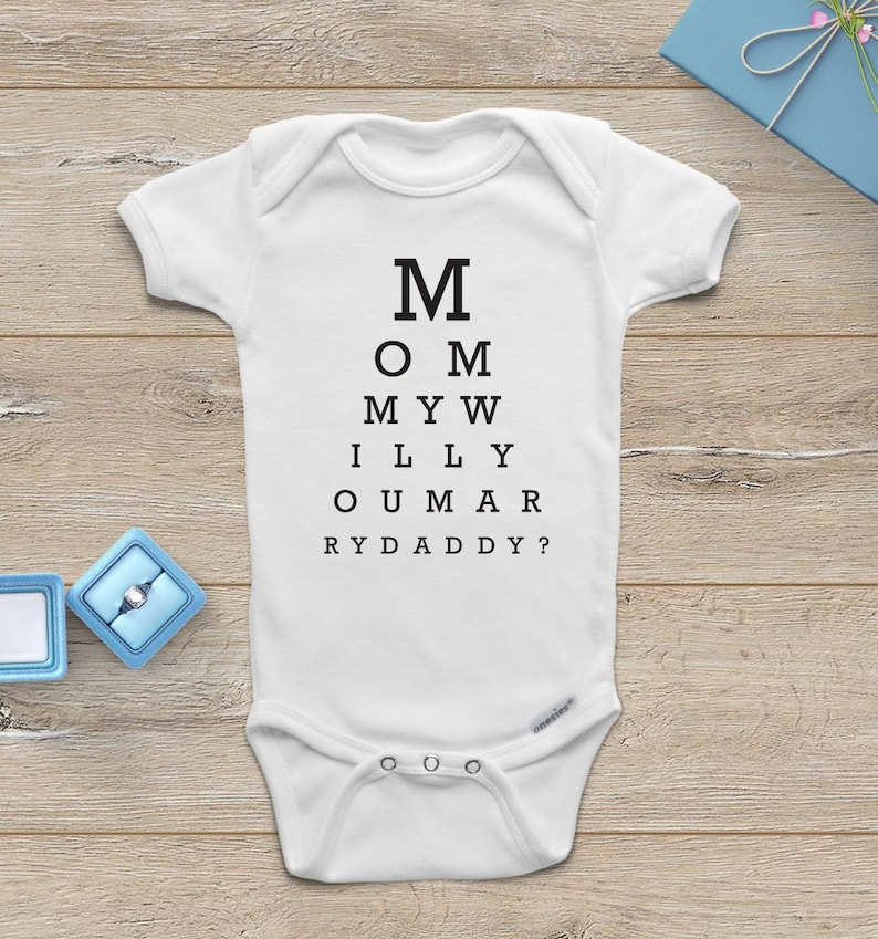 f7bdaba6b Proposal ONESIE ® Mommy Will You Marry My Daddy Onesie Will