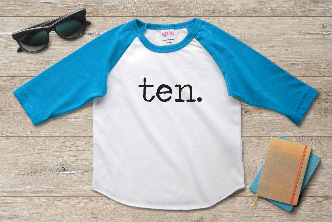 10th Birthday Shirt Boy Girl Tenth 10 Year