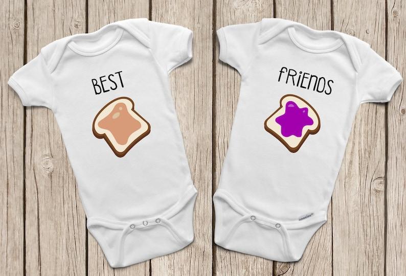 f03614d6ae69 Best Friend ONESIES ® or Baby T-Shirt Twin Onesies Peanut | Etsy