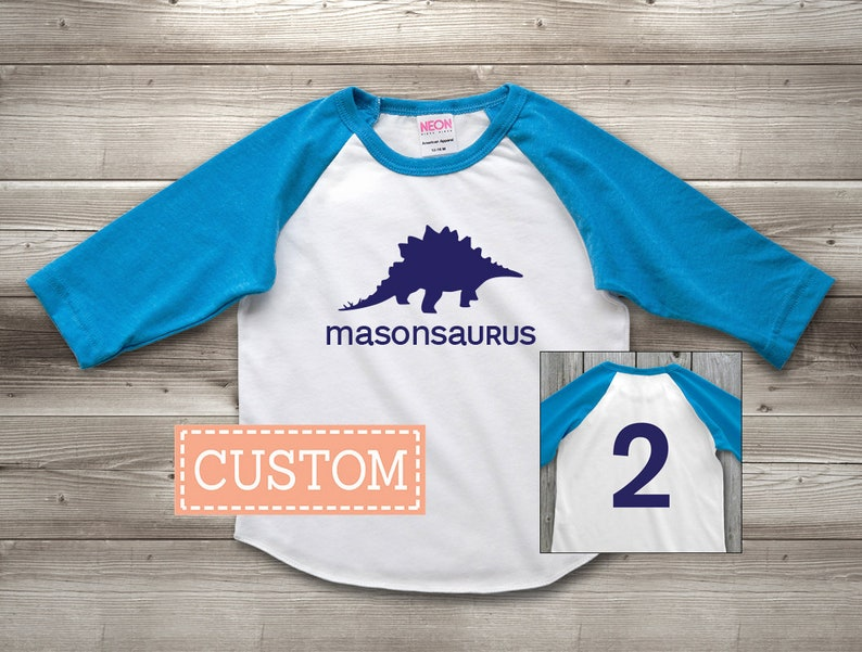 Personalized Dinosaur Birthday Shirt Custom