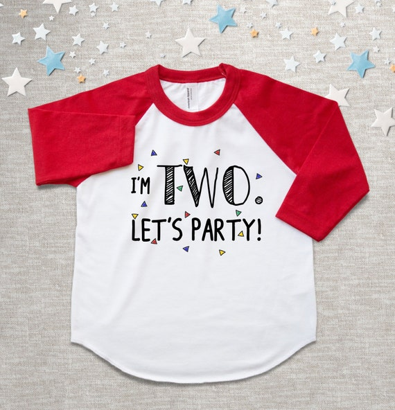 Birthday Party Shirt For Boys Or Girls 2 Year Old 2nd