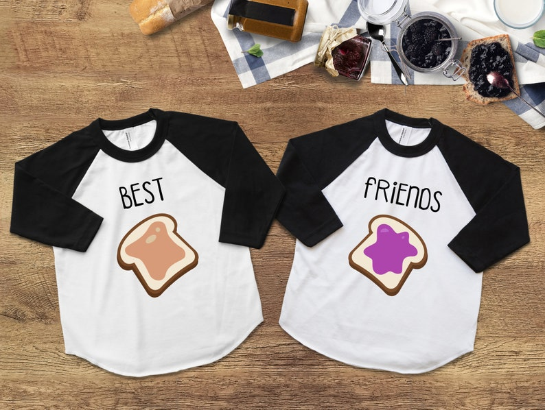 2f9a3f82e Best Friend Shirts Peanut Butter and Jelly Shirts Best | Etsy