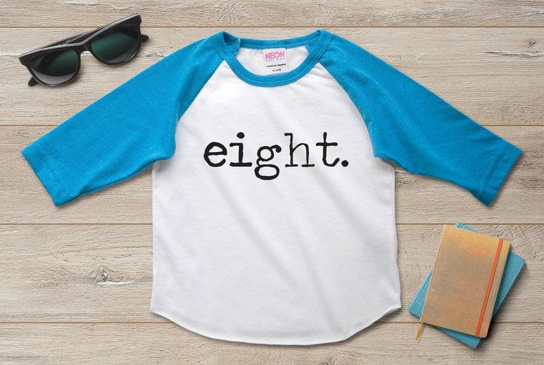 8th Birthday Shirt Boy Girl Eighth 8 Year