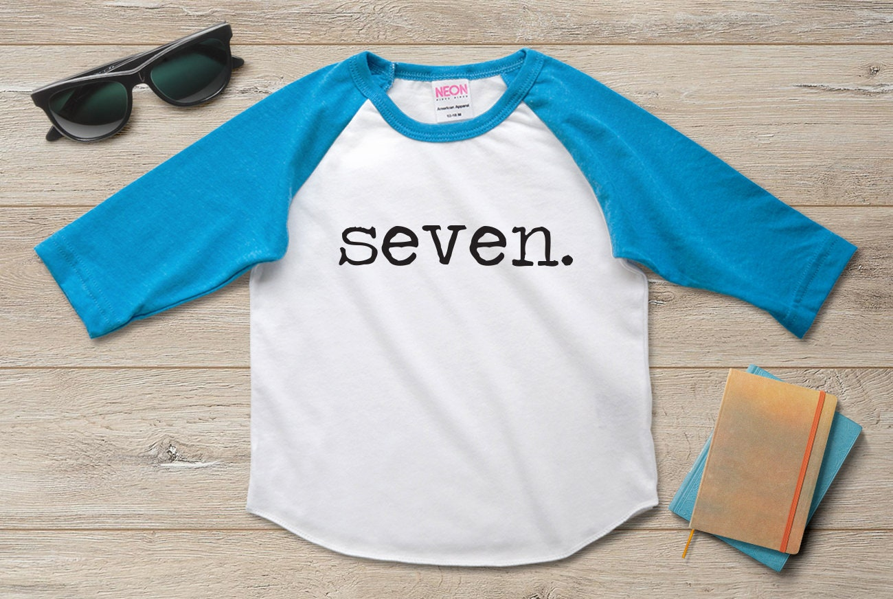 7th Birthday Shirt Boy Girl Seventh 7 Year