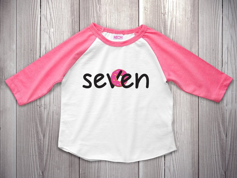 7th Birthday Shirt Raglan Seventh Outfit