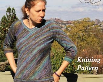 Uberbiased - Sweater/Pullover - Knitting Pattern