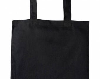 dd2e98c33e2 Heavy-weight Canvas Tote Bag (Black Colour)