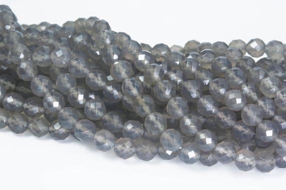 "6-14mm Faceted Watermelon Tourmaline Gemstones Round Beads Necklace 18/"""