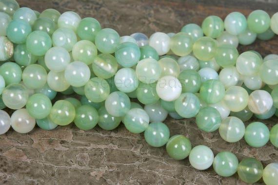 10pcs Green Dyed Agate Gemstone Beads 8mm Jewellery Supplies B37269 Grade B