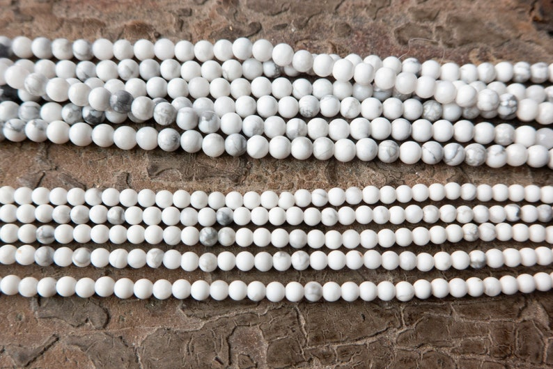 white howlite small gemstone beads white jewelry beads beading supplies -2mm 3mm beads -15inch small howlite spacer beads wholesale