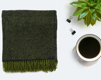 Green throw blanket   Etsy