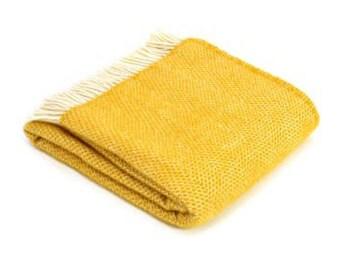 Yellow Throw Blanket Etsy