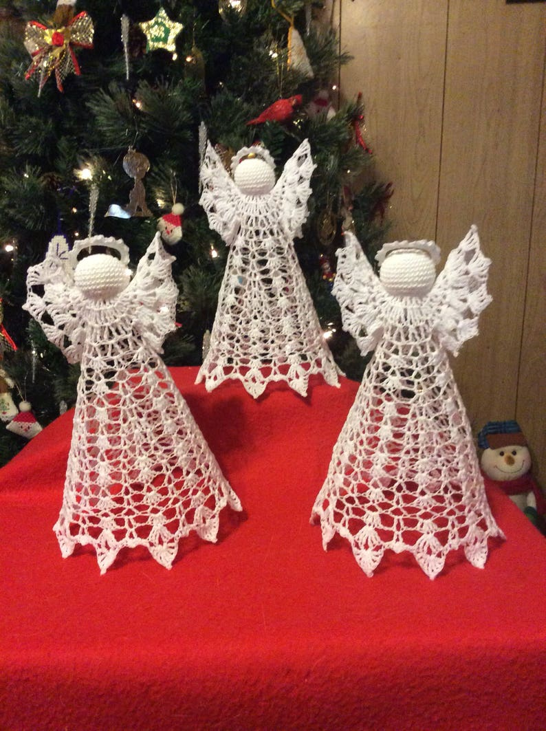 Crochet Angel Tree Topper Etsy