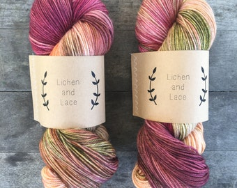 Garland ~ Lichen and Lace Hand Dyed Yarn