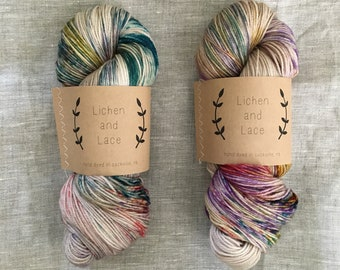 Pressed Flowers ~ Lichen and Lace Hand Dyed Yarn