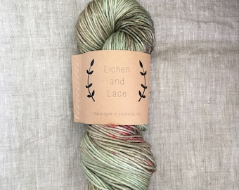 Sea Grass ~ Lichen and Lace Hand Dyed Yarn