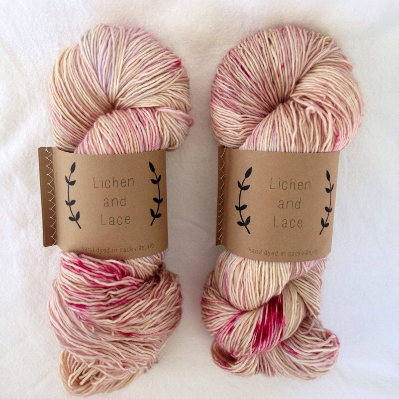 Orchid   Lichen and Lace Hand Dyed Yarn image 0