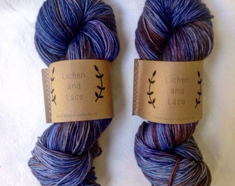 Huckleberry   ~ Lichen and Lace Hand Dyed Yarn