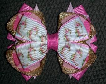 Unicorns Handmade Stacked Boutique Bow