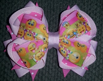 Emoji Handmade Stacked Boutique Bow