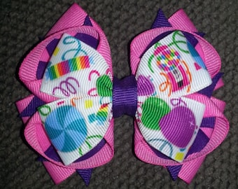 Candy Handmade Stacked Boutique Bow