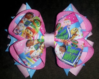 Super Why Handmade Stacked Boutique Bow