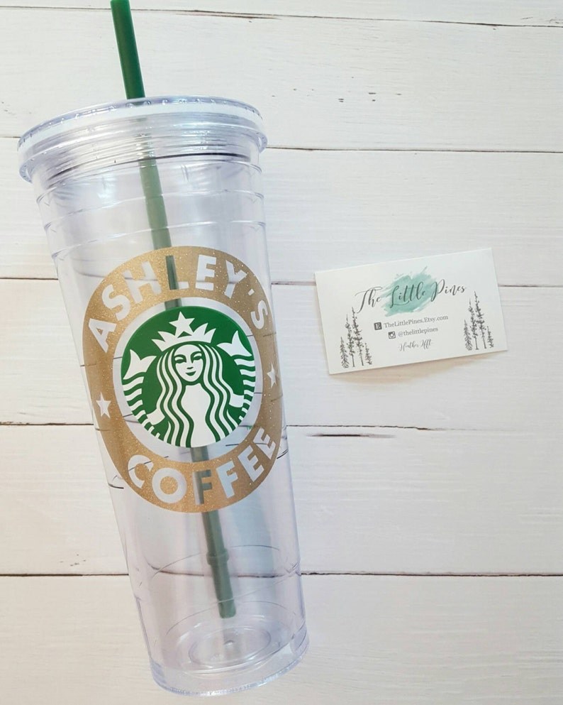 015c3ba836d Personalized Starbucks Tumbler Cup bridesmaid gift Cold Cup | Etsy