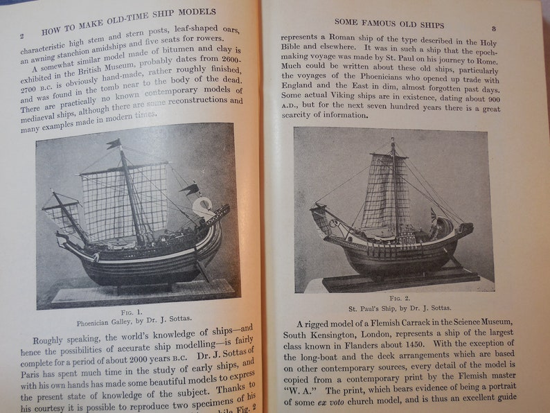Hobbs How to Make Old Time Ship Models by E.W