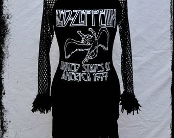 Led Zeppelin 1977 Tour fringe dress