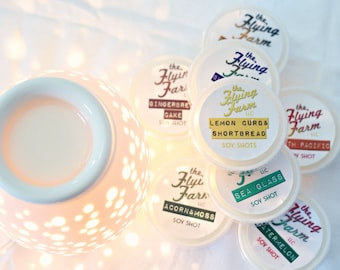 Soy Shot Wax Tart Sampler - Set of 6 Individual Cups - Scented Soy Wax Melt Bundle for Warmers
