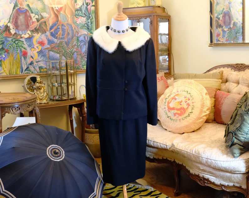 Vintage 50's/60's Black Women's Suit . Worsted image 0