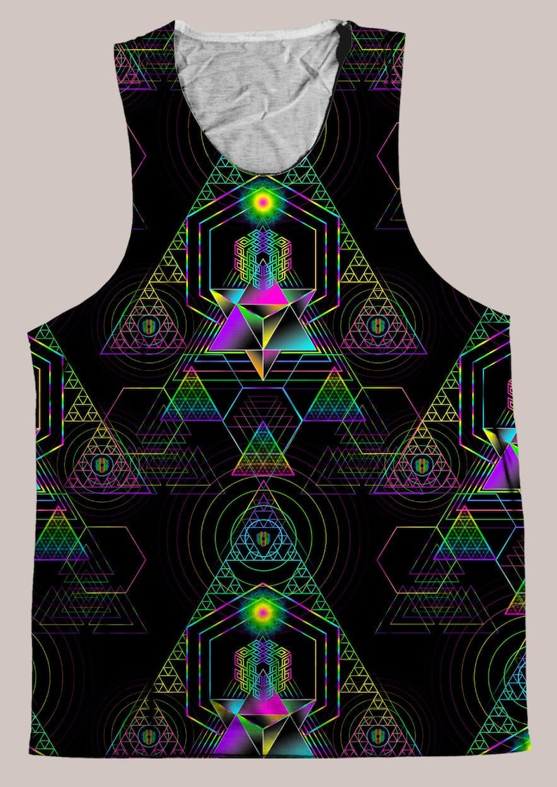 Accessories /& Decor by Samuel Farrand Sierpinski Samadhi Mens HELIOS TANK TOP  Psychedelic Men and Womens Festival Clothing