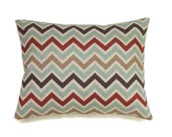 Lumbar Pillow Cover, Chevron 12x16 Pillow Cover, Zig Zag Throw Pillow, Modern Pillow, Cushion Cover, Accent Pillow, Zoom Zoom Nile Denton