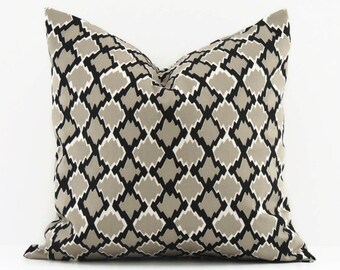Gray Pillow Cover, 16x16 Pillow Cover, Decorative Pillows, Modern Accent Pillow Covers, Cushion Cover, Gemstone Mercury Macon