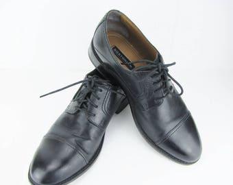 Men s Leather Lace Up Shoes Men s Oxford Black Office Shoes Men s Dress  Shoes Classic Cap toe Size 8M Vintage Shoes For Men Gift For Him ea470376c749