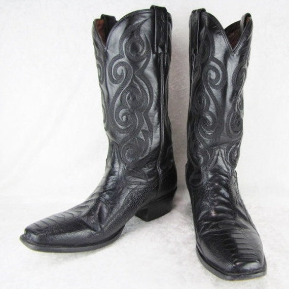 Leather Western Cowboy Boots by Dan   Etsy