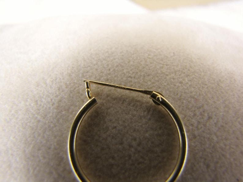 Medium Hoop Single Earring Solid Gold Earring Men/'s Earring Men/'s Gold Jewelry Gift For Him Single Hoop 14k Gold Unique Men/'s Jewelry