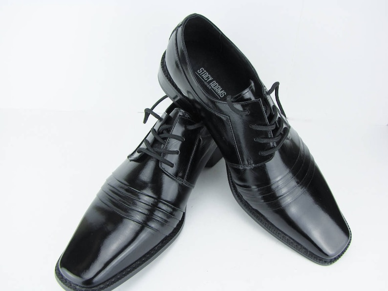 39be4888182 Men s Dress Shoes Black Patent Leather Lace Up Shoes
