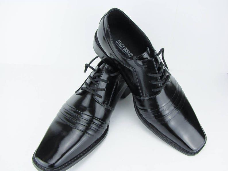 Men s Dress Shoes Black Patent Leather Lace Up Shoes  f86f45b0d9e4