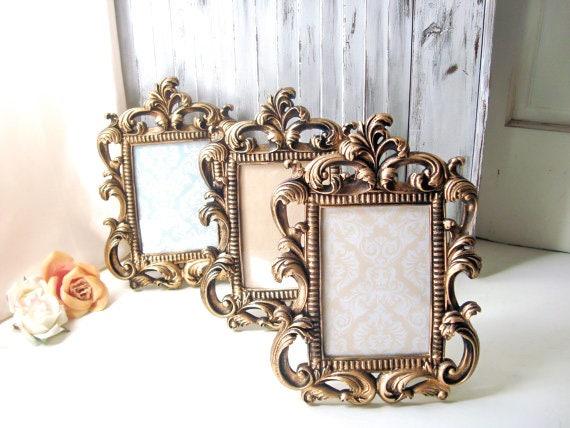 Gold Vintage Style Ornate 5 x 7 Frame, Table Number Frames, Shabby ...