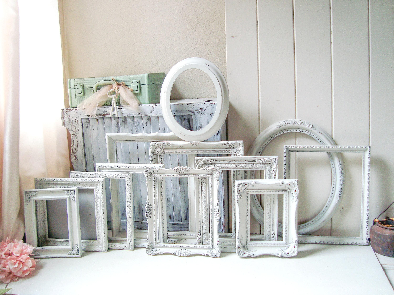 Rustic White Picture Frame Set, Farmhouse Frames, Nursery Frames ...